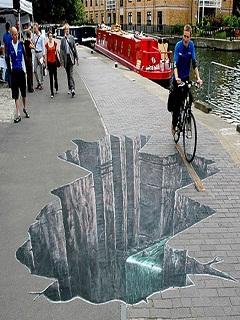 Hình ảnh 3D trên đường nhìn như thật