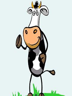Hình ảnh vui hoạt hình – Chú bò sữa vui nhộn