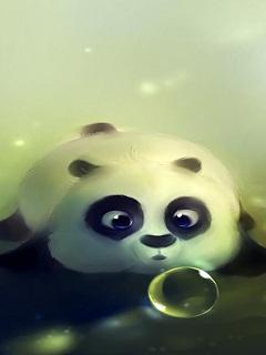 Hình nền 3D cho Iphone cực đẹp - Gấu trúc Panda