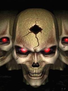 Hết hồn với hình nền kinh dị – Đầu nâu mắt đỏ