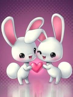 Hình nền tình yêu - Chuyện tình thỏ trắng