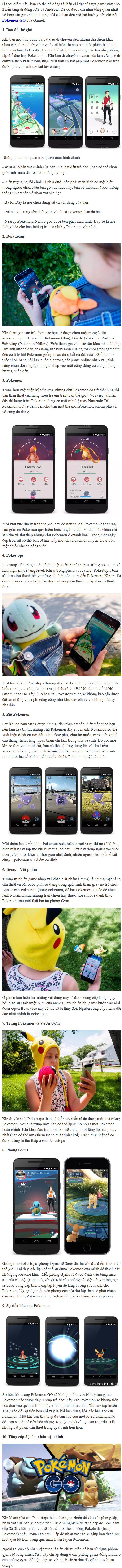 Hướng dẫn cách chơi Pokemon GO chuẩn không cần chỉnh