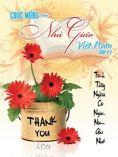 Hình nền 20-11 đẹp - Thiệp hoa chúc mừng ngày nhà giáo Việt Nam