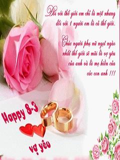 Hình chúc mừng ngày 8-3 dành tặng vợ yêu