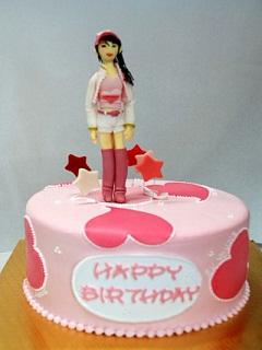 Hình ảnh bánh kem sinh nhật dễ thương dành cho bé gái