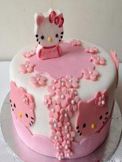 Xem những mẫu bánh kem sinh nhật dễ thương hình Kitty cực kute