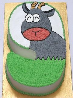 Bánh kem sinh nhật hình con dê cực ngộ nghĩnh