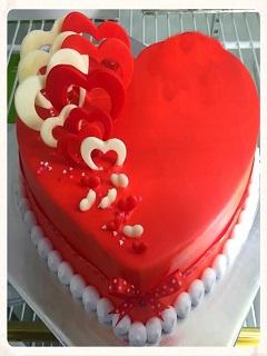 Xem bánh kem sinh nhật hình trái tim tặng người yêu