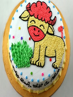 Bánh sinh nhật hình con dê siêu kute