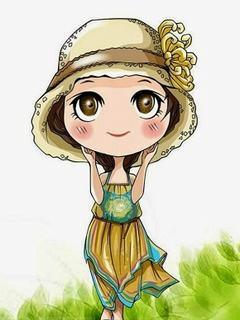Tải hình nền hoạt hình cô bé đáng yêu