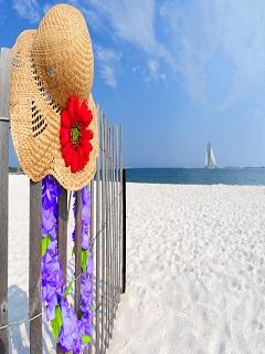 Tải hình nền biển xanh tươi đẹp với bãi cát trắng trải dài