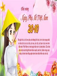 Hình nền 20/10 chúc mừng ngày phụ nữ Việt Nam ý nghĩa 2017