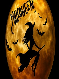 Ngắm hình nền halloween dễ thương phù thủy nhí nhảnh 2017