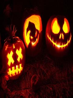 Tải hình nền halloween trái bí ngô gương mặt quỷ ám đáng sợ 2017