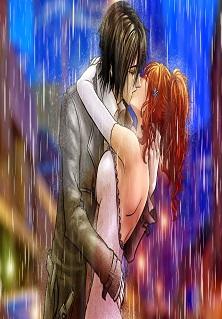 Tải hình nền hoạt hình kute nụ hôn hội ngộ nồng cháy