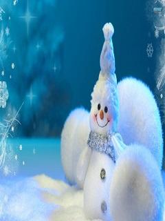 Hình nền đẹp giáng sinh 3d người tuyết dễ thương đáng yêu năm 2018