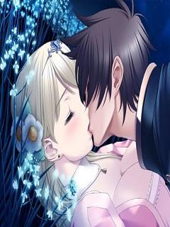 Hình nền hoạt hình đẹp về tình yêu nụ hôn nồng cháy năm 2018