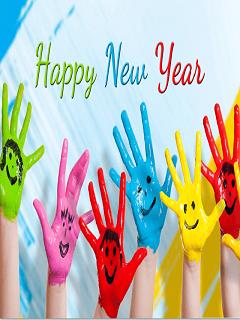 Hình nền năm mới Mậu Tuất 2018 với những sắc màu vui nhộn