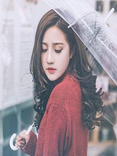 Hình gái đẹp Việt Nam dịu dàng dưới mưa năm 2018