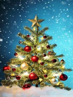 Hình nền Giáng Sinh cây thông Noel xinh xắn năm 2018
