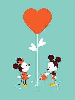 Hình nền cặp đôi hoạt hình chuột Mickey đáng yêu 2018