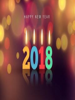Hình nền năm mới 2018 thắp sáng ngọn lửa yêu thương