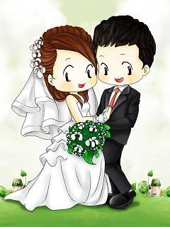 Xem hình nền cưới hoạt hình ngọt ngào lãng mạn nhất