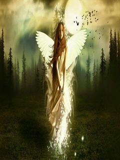 Hình ảnh đẹp thiên thần 3d phát sáng lung linh huyền ảo