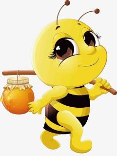Hình nền con ong hoạt hình đang đi kiếm mật cho đời