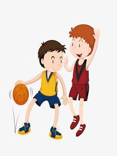 Hình nền thể thao hoạt hình môn bóng rổ đỉnh cao
