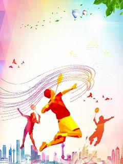 Hình nền thể thao môn cầu lông đẹp mang sắc màu dễ thương